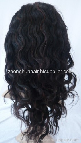 human hair wigs with high light color