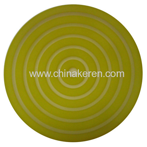 2013 soft PVC green Coaster