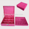 New arrival faux suede jewelry box/beauty case