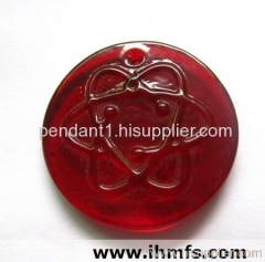 health,fashion,unique ,Lava energy , far infrared,coloured glaze transparent pendant
