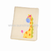 giraffe embroidered baby fleece blankets
