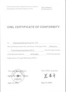 OIML Certificate for electronic price computing scales