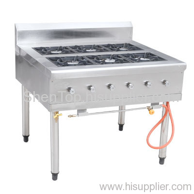 Six fuel gas bao whelp stove