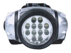 Double blister 12 LED headlamp with 3AAA batteries