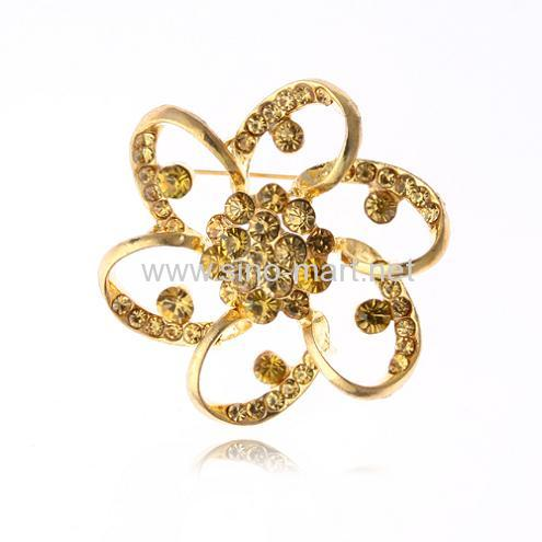 Artificial Flower Brooch Pin