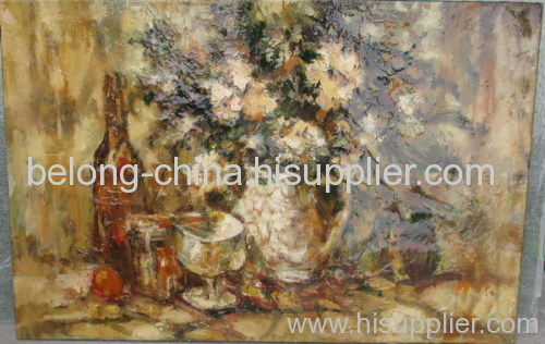 flower oil painting wall decoration