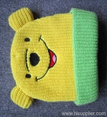 acrylic cartoon knitted hat