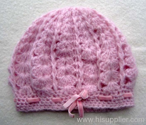 acrylic jacquard knitted hat