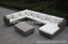 PE rattan sofa set garden furniture