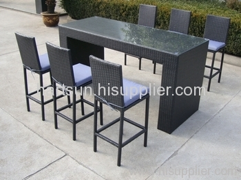Garden furniture wicker bar set