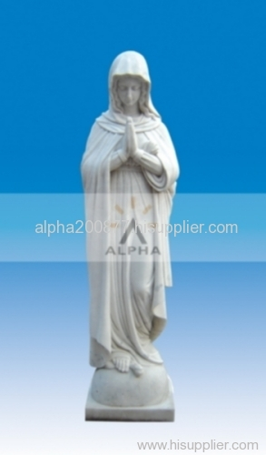 marble carved pilgrim virgin mary/modonna