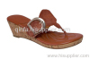 Lady Wedge Thong Sandal