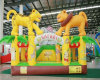 New! double tigers inflatable castle