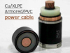 10KV Single core Copper Conductor XLPE insulation Aluminum Tape Armored Power Cable