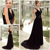 classic black evening dress