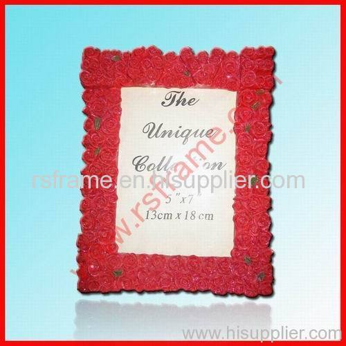rose model wedding red resin photo frame