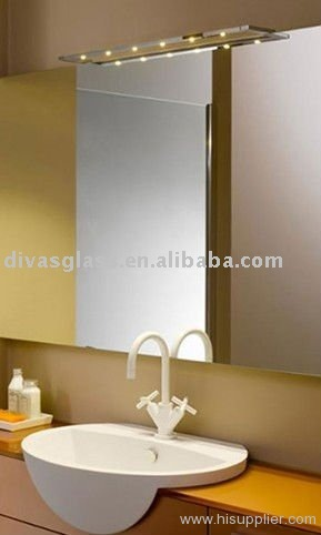 Hotel bathroom mirror heating pad with mirror demisting