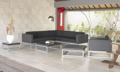 Patio stainless steel rattan furniture