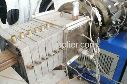 Wood plastic profile machine