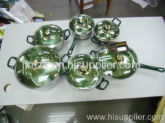 12pcs stainelss steel cookware set/happy baron