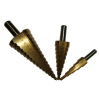 HSS Straight Flute step drill set 4-12,4-20,4-32mm,Titanium coated
