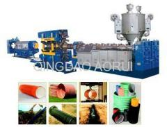 pvc double wall corrugated pipe extrusion line