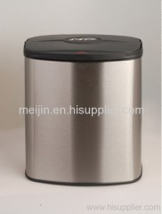 8L stainless steel trash bin