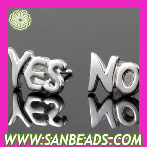 Sterling Silver YES /NO Stud Earrings