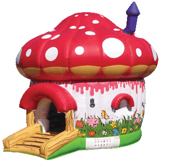 Red Mushroom Bounce House