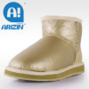 Lady fashion winter snow boots with twin-face sheepskin material