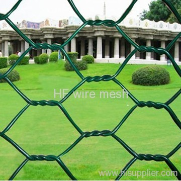 Woven PVC coated hexagonal fence