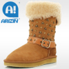 Women boot with double-face sheepskin material