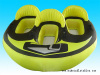 snow tube, ski tube, towable ski, inflatable ski