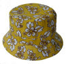 Flower printing women bucket hats