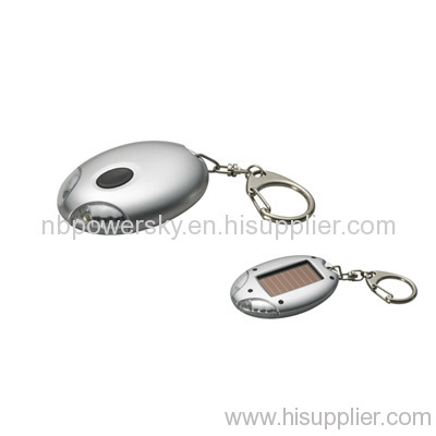 2pcs LED Solar Key Chain Flashlight