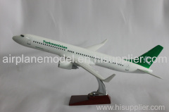 resin plane model B737-800 Turkmenis 40cm