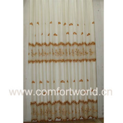 Polyester Embroidery Curtain Fabric