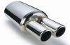 304 bright polished exhaust muffler