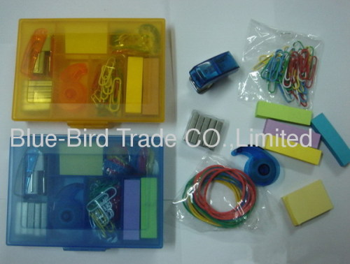Plastic 11pc stationery set
