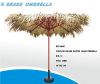 Wooden beach umbrella