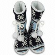 Fashion girl Boots with Lamb Fleece Lining,lady boots