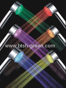 led shower head light,metallic casing color and ABS material