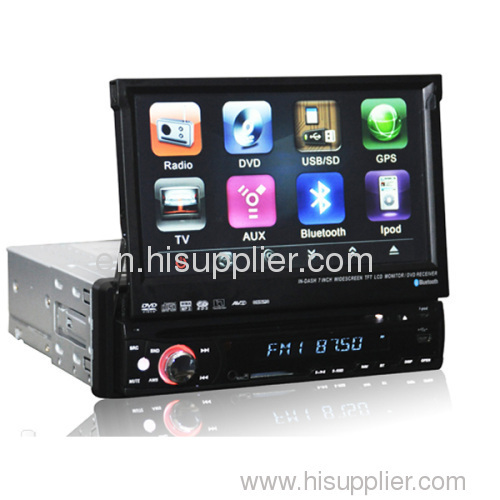 One Din 7.0 inch Touchscreen Bluetooth GPS car DVD Player