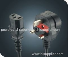 UK computer power cord/extention cord/IEC outlet/BS approved
