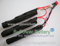 Airsoft Gun Battery Pack Airsoft Gun Electronic Toy BB Gun 11.1V 3000mAh 15C Battery packs