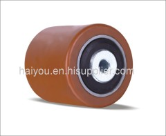 pallet rollers pu roller with steel center