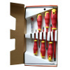 Red plastic handle Screwdriver set