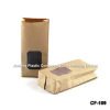 Moisture Proof Kraft Paper Coffee Packaging Bags With Clear Window