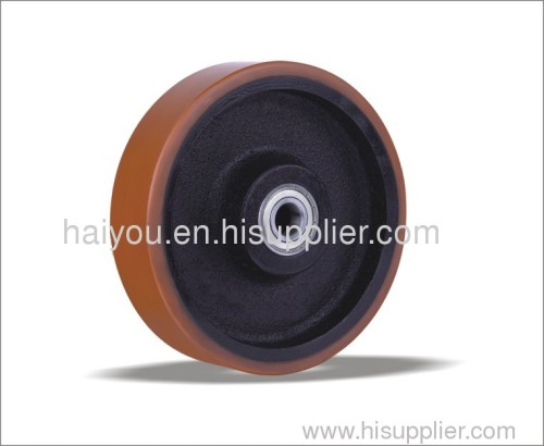 150mm200mm 92A PU Wheels with cast iron core with ball bearing