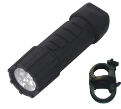 Rubber paint plastic camping bicycle torch light